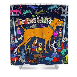 Top Dog Shower Curtain