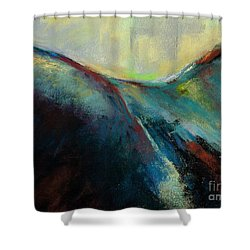 Top Line Shower Curtain by Frances Marino