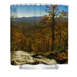 Top Of Amicola Falls Shower Curtain