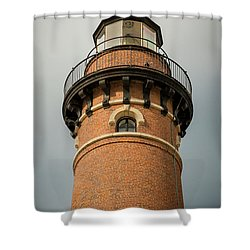 Shower Curtain featuring the photograph Top Of Little Sable Point Lighthouse by Adam Romanowicz