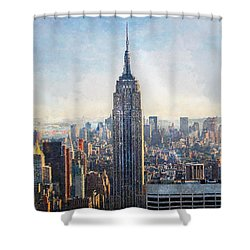Top Of The 30 Rock Shower Curtain