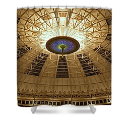 Top Of The Dome Shower Curtain by Sandy Keeton