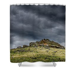 Top Of The Mountain Shower Curtain by Mary Angelini