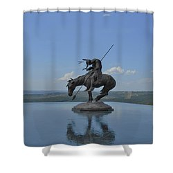 Top Of The Rock Infinity Pool Shower Curtain