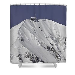 Top Of The Tram Shower Curtain by Mark Harrington