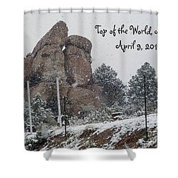 Top Of The World Arizona Shower Curtain by Methune Hively