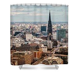 Top View Of Hamburg Shower Curtain