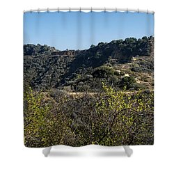 Topanga Canyon Trail Shower Curtain