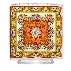Topaz And Peridot Bling Kaleidoscope Shower Curtain