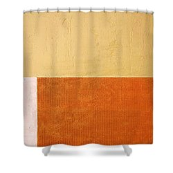 Topaz Pink Orange Shower Curtain