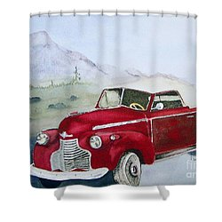 Topless 1940 Chevy Shower Curtain