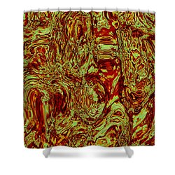 Shower Curtain featuring the digital art Topo 1 111415 by Matt Lindley