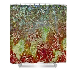 Shower Curtain featuring the digital art Topo 2 111415 by Matt Lindley