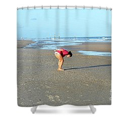 Topsail Island Beach Shower Curtain by Eva Kaufman
