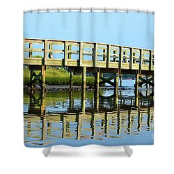 Topsail Island Walk Shower Curtain by Eva Kaufman