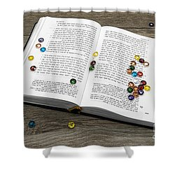 Torah Book Shower Curtain