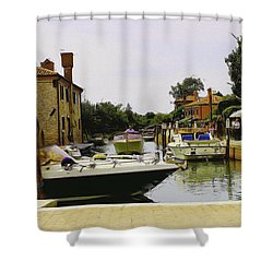 Shower Curtain featuring the photograph Torcello Island by Cendrine Marrouat