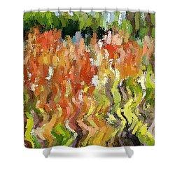 Torch Lilies Shower Curtain