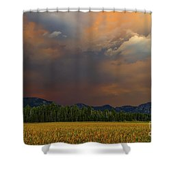 Tormented Sky Shower Curtain by Mitch Shindelbower
