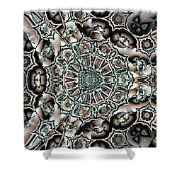Shower Curtain featuring the digital art Torn Patterns by Ron Bissett
