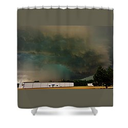 Shower Curtain featuring the photograph Tornadic Supercell by Ed Sweeney