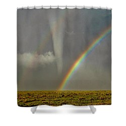 Shower Curtain featuring the photograph Tornado And The Rainbow II  by Ed Sweeney