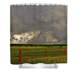 Shower Curtain featuring the photograph Tornado At The Ranch by Ed Sweeney