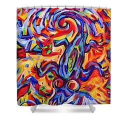 Tornado Lizard At Waters Edge Shower Curtain by Dianne  Connolly