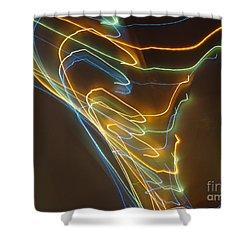 Shower Curtain featuring the photograph Tornado Of Lights. Dancing Lights Series by Ausra Huntington nee Paulauskaite