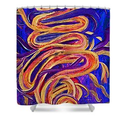 Shower Curtain featuring the painting Tornado Swirls by Claire Bull