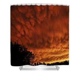 Tornado Warning Shower Curtain