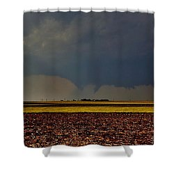 Shower Curtain featuring the photograph Tornadoes Across The Fields by Ed Sweeney