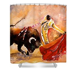 Toro Acuarela Shower Curtain