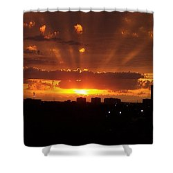 Toronto - Just One Breathtaking Sunset Shower Curtain