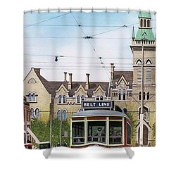 Shower Curtain featuring the painting Toronto Belt Line by Kenneth M Kirsch
