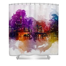 Toronto Canada Skyline Shower Curtain
