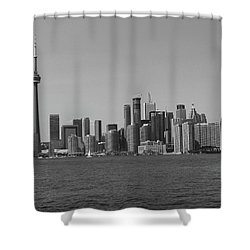Toronto Cistyscape Bw Shower Curtain