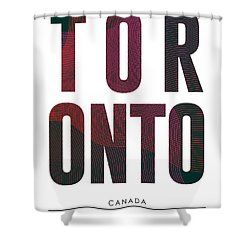Toronto, Canada - City Name Typography - Minimalist City Posters Shower Curtain