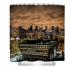 Toronto Dusk Shower Curtain by Sara Frank