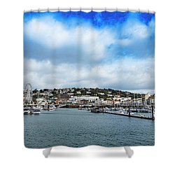 Shower Curtain featuring the photograph Torquay Devon by Scott Carruthers