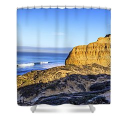 Torrey Pines Morning Shower Curtain