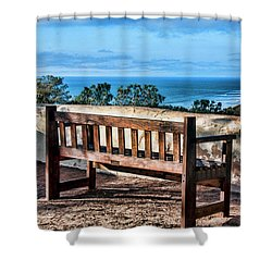 Torrey Pines View Shower Curtain by Daniel Hebard