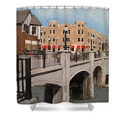 Tosa Village Bridge Shower Curtain