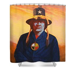 Tosh-a-wah,peneteka Comanche Chief Shower Curtain by J W Kelly