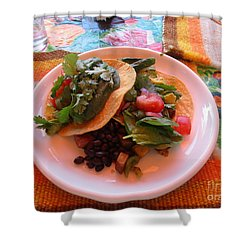 Shower Curtain featuring the photograph Tostada Times Two by Marie Neder