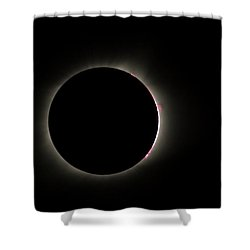 Total Eclipse Solar Flares Shower Curtain