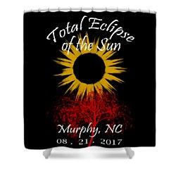 Total Eclipse T-shirt Art Murphy Nc Shower Curtain by Debra and Dave Vanderlaan