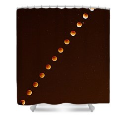 Total Lunar Eclipse September 27 2015 Shower Curtain by Brian Lockett