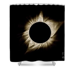 Total Solar Eclipse Corona Shower Curtain