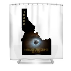 Total Solar Eclipse In Idaho Map Outline Shower Curtain by David Gn